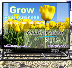 Acceleration Signs Mini Billboard